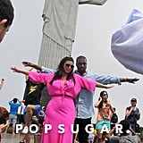 Kim and Kanye traveled to Brazil in February 2013 and stopped to pose with the Christ the Redeemer statue.