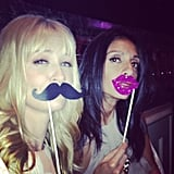 Whitney Cummings got silly with Beth Behrs. Source: Instagram User therealwhitney