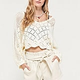 UO Bea Belted Faux Leather Short