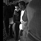Kim Kardashian and Kanye West shared an intimate hug. Source: Instagram user kimkardashian