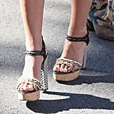 Let's zoom in on these covet-worthy Lanvin woven-heel sandals, shall we?