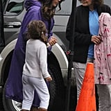 Salma Hayek and daughter Valentina Pinault were in Boston.