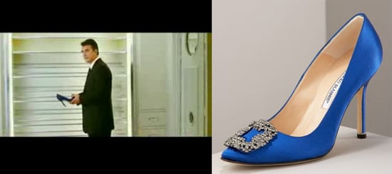 Found! Carrie Bradshaw's Blue Satin Manolo Blahnik Pumps