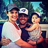 Stephen, Cassandra, and Mavi were decked out in Blue Jays gear back in August 2014.