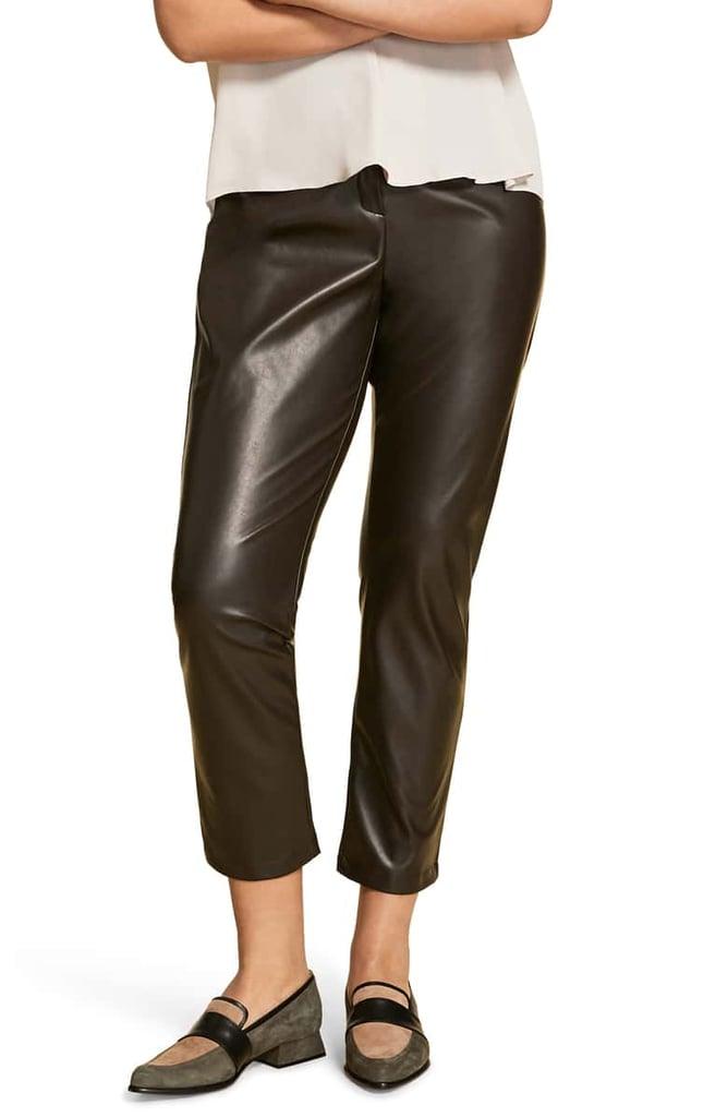 Marina Rinaldi Faux Stretch Leather Pants (Plus Size)