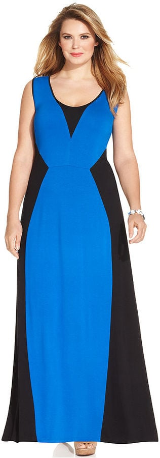 NY Collection Plus-Size Colorblock Dress | Plus-Size Dresses For ...