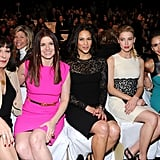 The front row was packed with gorgeous actresses.