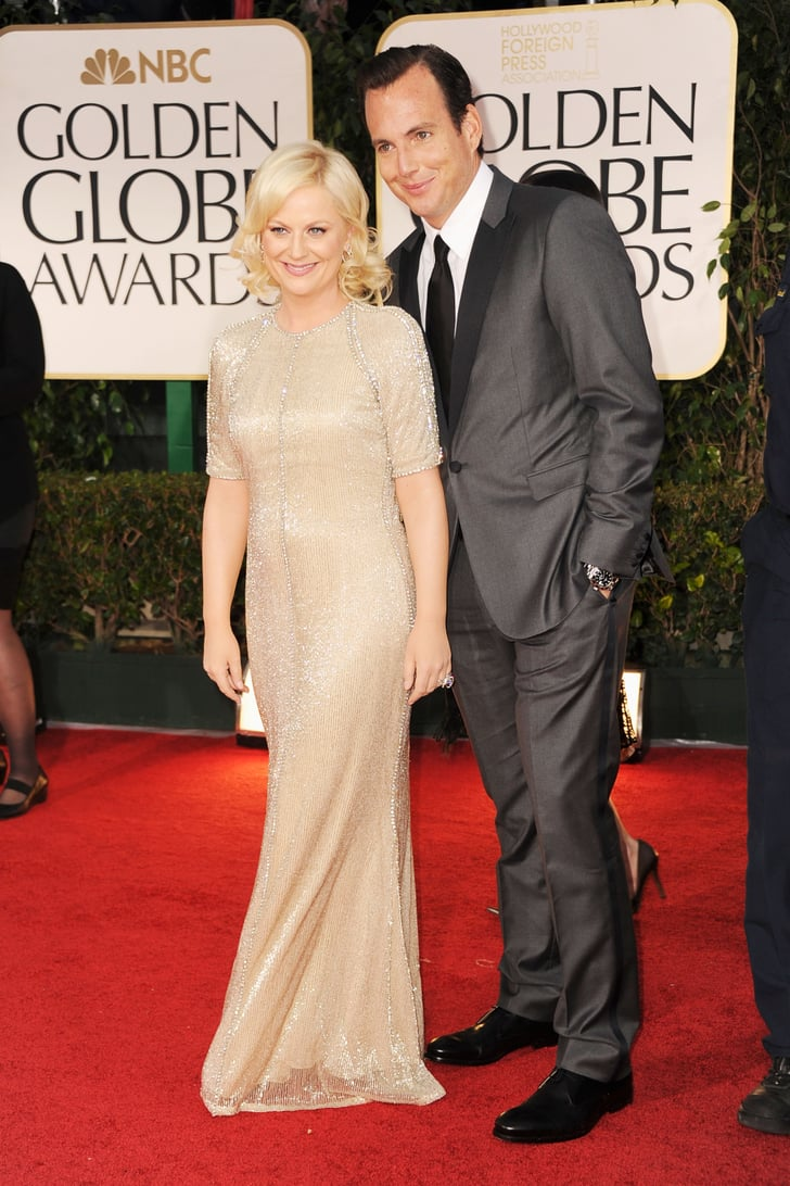 Amy Poehler and Will Arnett at the Golden Globes.