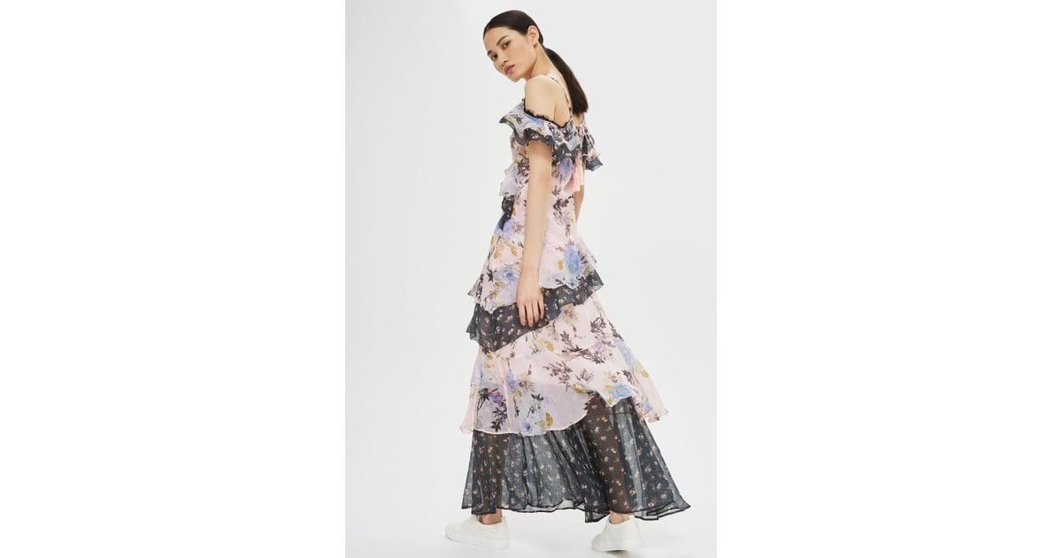 9a19e451d491 Topshop Lace Trim Maxi Dress