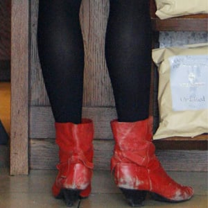 Guess Who Is Wearing Red Boots?