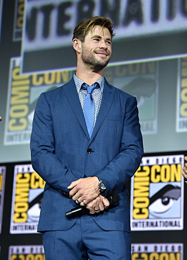 Pictured: Chris Hemsworth at San Diego Comic-Con.
