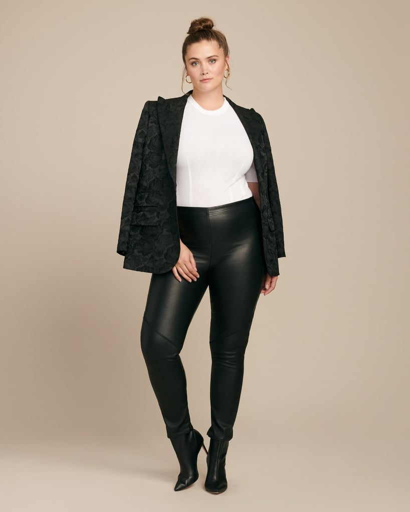 Veda Zero Cropped Leather Leggings With Zipper