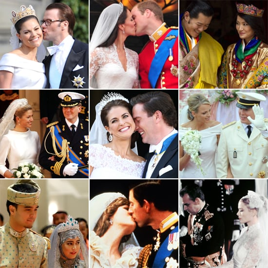 Collage of different royal people's wedding day