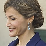 For Maximum Impact, Pair Drop Earrings With an Updo