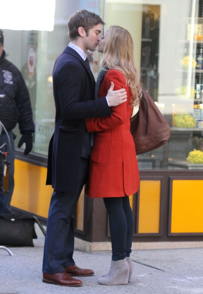Chace Crawford kissing Ella Rae Peck.