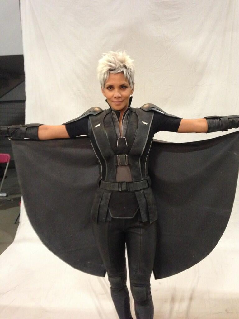 Halle Berry showed off her return to the X-Men franchise as Storm. Source: Twitter user BryanSinger