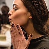 8. Backstage turns into a hair salon. Don't be surprised if you see models getting shampooed between catwalks so that their hair can be totally switched up. 9. Minifacials are happening. The scene is filled with micellar water, makeup remover, sheet masks, and moisturizers to prep the models' skin between runways. While most of them have flawless faces, they are no stranger to breakouts from all the makeup. That's why estheticians from skin care brands are back there for quick complexion fixes. 10. Concealer is the new foundation. Though models can get some zits and redness from all the makeup, they still have better-than-average skin. So makeup artists stray away from using heavy foundations in favor or tinted moisturizer or spot-treating blemishes and rosacea with concealer. Many designers wants to feature women with glowing, dewy skin!