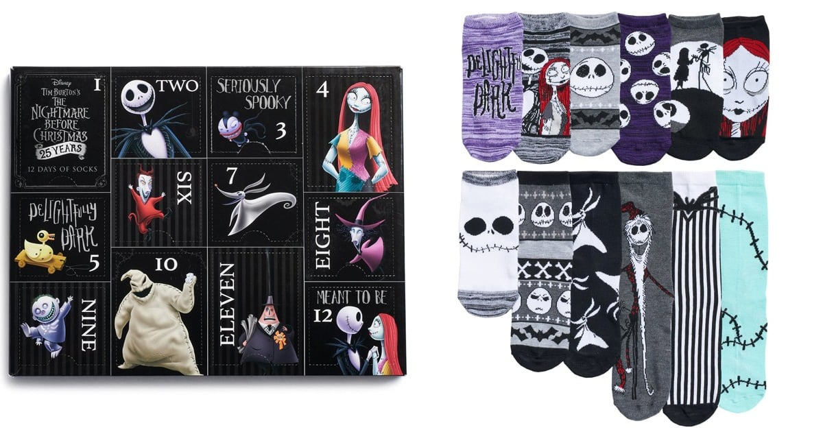 the nightmare before christmas sock advent calendar 2018. Black Bedroom Furniture Sets. Home Design Ideas