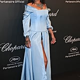 Rihanna was a modern-day Cinderella in this Adam Selman gown at the Chopard party in May 2017.