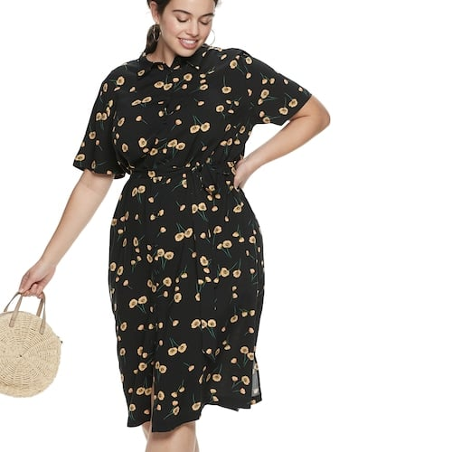 POPSUGAR Plus Size Printed Midi Dress