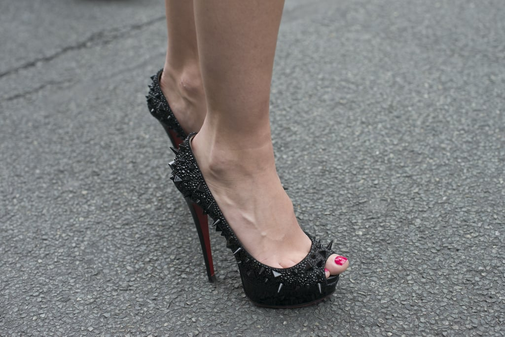 We love Christian Louboutin's take on the stud trend.