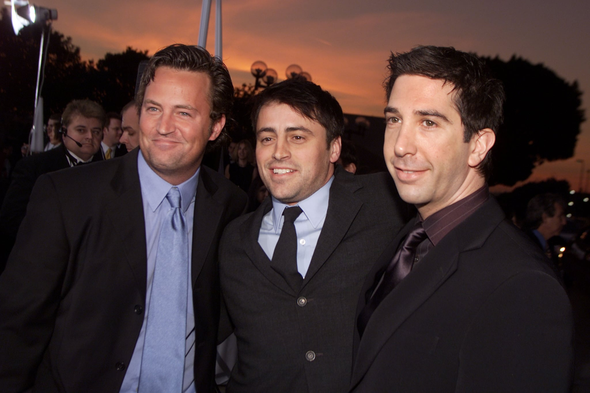 The guys of Friends — Matthew Perry, Matt LeBlanc, and David