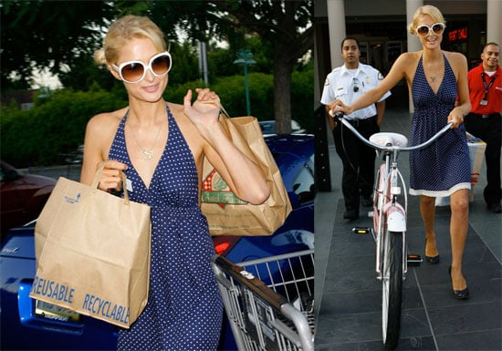 Photos of Paris Hilton Buying Sports Equipment and Food in LA