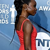 Danai Gurira's Intricate Braid at the 2020 SAG Awards