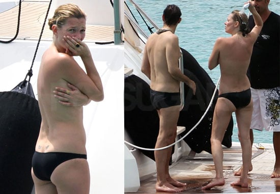 Kate Moss Bikini and Topless Photos in St. Barts