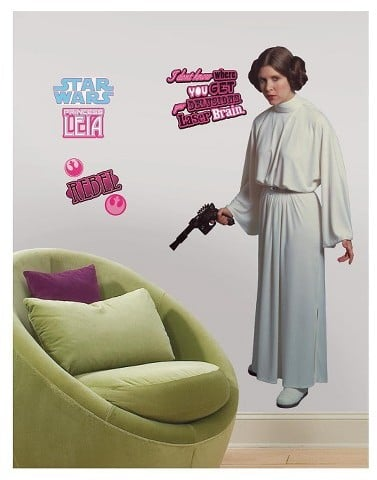 Star Wars Classic Leia Peel and Stick Giant Wall Decal