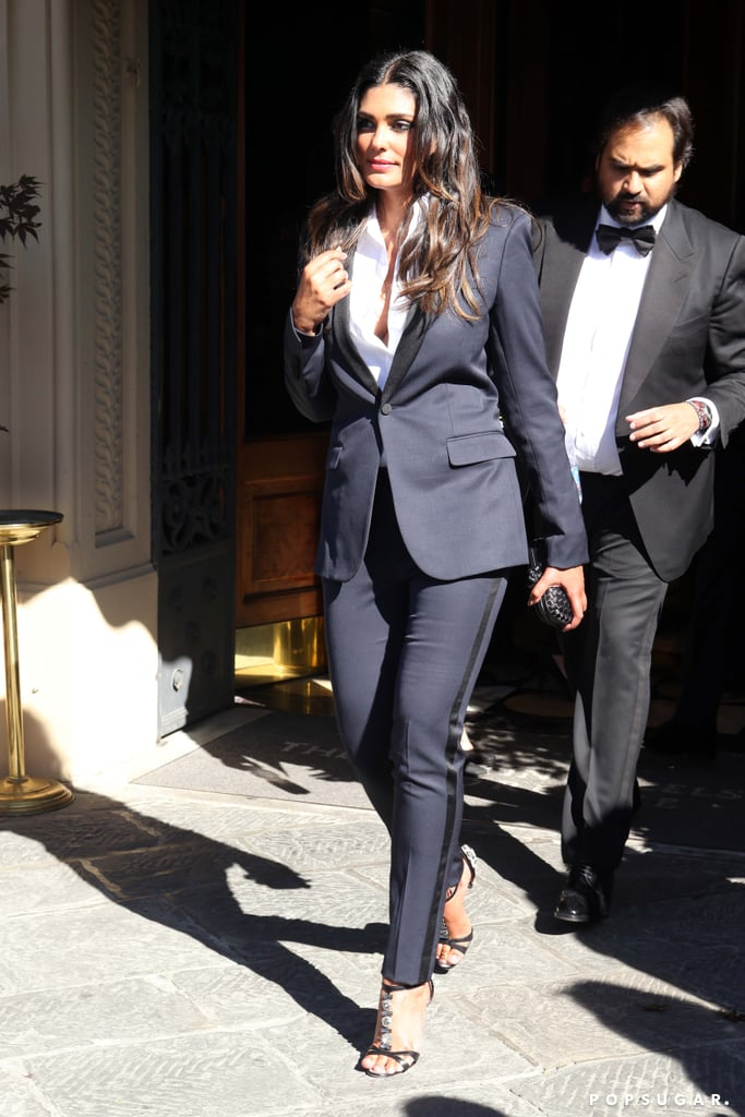 Rachel Roy sported a fitted tuxedo for the event.
