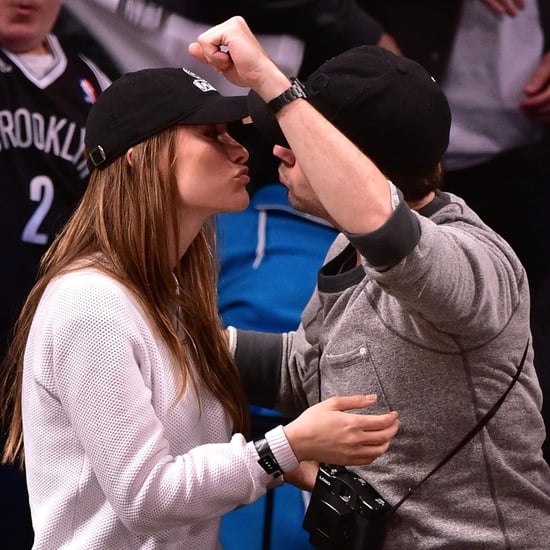Olivia Wilde and Jason Sudeikis Kiss at Brooklyn Nets Game