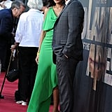 James Franco caught up with Freida Pinto at the premiere.