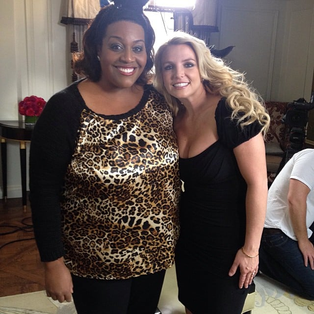 Britney Spears posed with British TV presenter Alison Hammond after filming an interview in London. Source: Instagram user britneyspears