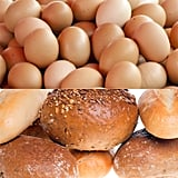 Egg (one large) —0.1g Wholemeal bread (2 slices) —24g White bread (2 slices) —27g Pasta (1 cup cooked) —42.6g   Want more? Follow us onFacebook,Twitter,InstagramandPinterest!
