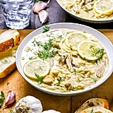 Lemon Garlic Chicken Orzo Soup