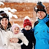 The more candid photos captured the family's first vacation as a foursome as well as Prince George and Princess Charlotte's first time in the snow.