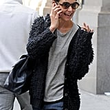Kate Holmes was out in NYC.