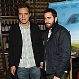 Jake Gyllenhaal and Michael Shannon were out together in NYC for Take Shelter.