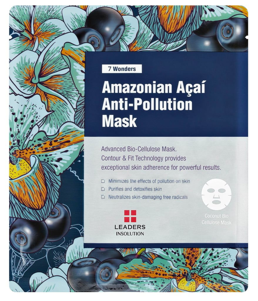 Best for: someone who wants to detox but hates juice cleanses.  If you're not willing to sacrifice bread, cheese, and wine in the name of clearer skin, try Leaders 7 Wonders Amazonian Açaí Anti-Pollution Mask ($6) purifies a congested complexion with superfoods açaí and coconut, leaving you glowing and refreshed.