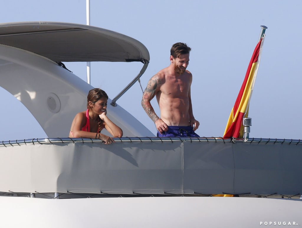 Lionel Messi and His Girlfriend in Ibiza, Spain July 2016