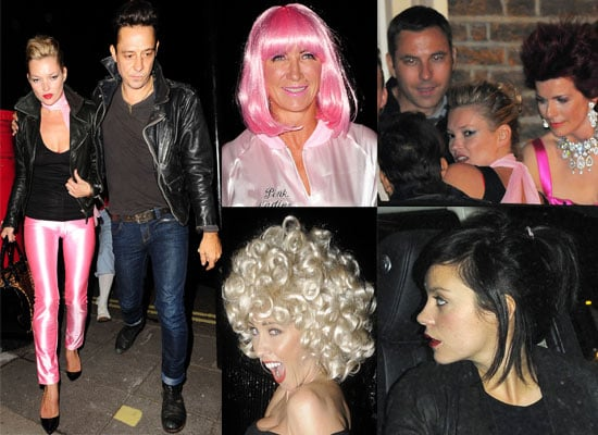 Gallery of Pictures of Kate Moss, Jamie Hince, Meg Matthews, Jenny Frost, Lily Allen, David Walliams In Grease Costumes