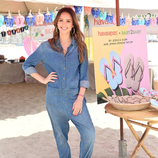 Jessica Alba Denim Jumpsuit June 2017