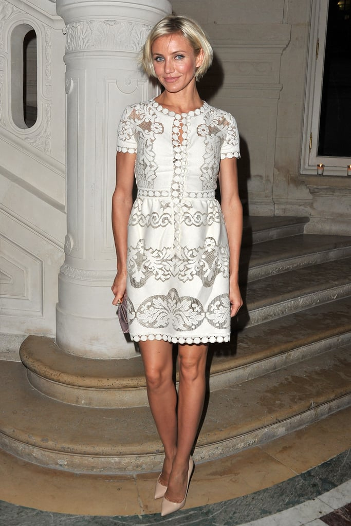 Cameron Diaz at the Valentino show.