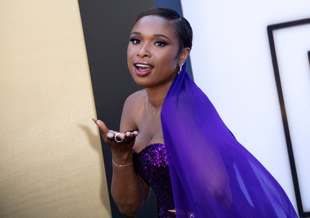 """It's always been a dream of Jennifer Hudson's to play Aretha Franklin, and after years of waiting, it has finally come true. For the LA premiere of Respect on Aug. 8, Jennifer looked every bit the successor to Aretha's Queen of Soul moniker in custom Dolce and Gabbana. """"She's always been one of my idols,"""" the 39-year-old told ConciergeQ. """"And then for her to pick me to do this is beyond a blessing, a dream, an honour, I do not take it lightly. And I just wanted to give every bit of my all to pay tribute to her."""" This isn't the first time Jennifer has gushed about the legendary singer, as she's frequently talked about the pressure to live up to Aretha's expectations.     The entire red carpet was a celebration of the life, love, and legacy of Aretha, with Jennifer's son David Otunga Jr. joining her for the premiere. """"It's a celebration of her life,"""" she shared with Access. """"I'm loving seeing her family here, all her loved ones. And we're here just on one accord: just in celebration of Ms. Franklin. As it should be."""" As for whether or not she thinks the late singer would be proud of the film, Jennifer had this to say, """"I can only hope and pray that she would be proud. I think she would . . . I think so long as she knows it was all from the heart. And all I wanted to do was meet her request and it just so happened to be my dream to do this."""" Ahead of the film's Aug. 13 release, check out pictures of Jennifer looking like the queen she is.       Related:                                                                                                           Aretha Franklin Handpicked Jennifer Hudson to Play Her in Respect For 2 Simple Reasons"""