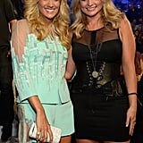 Carrie Underwood and Miranda Lambert met up in the audience.