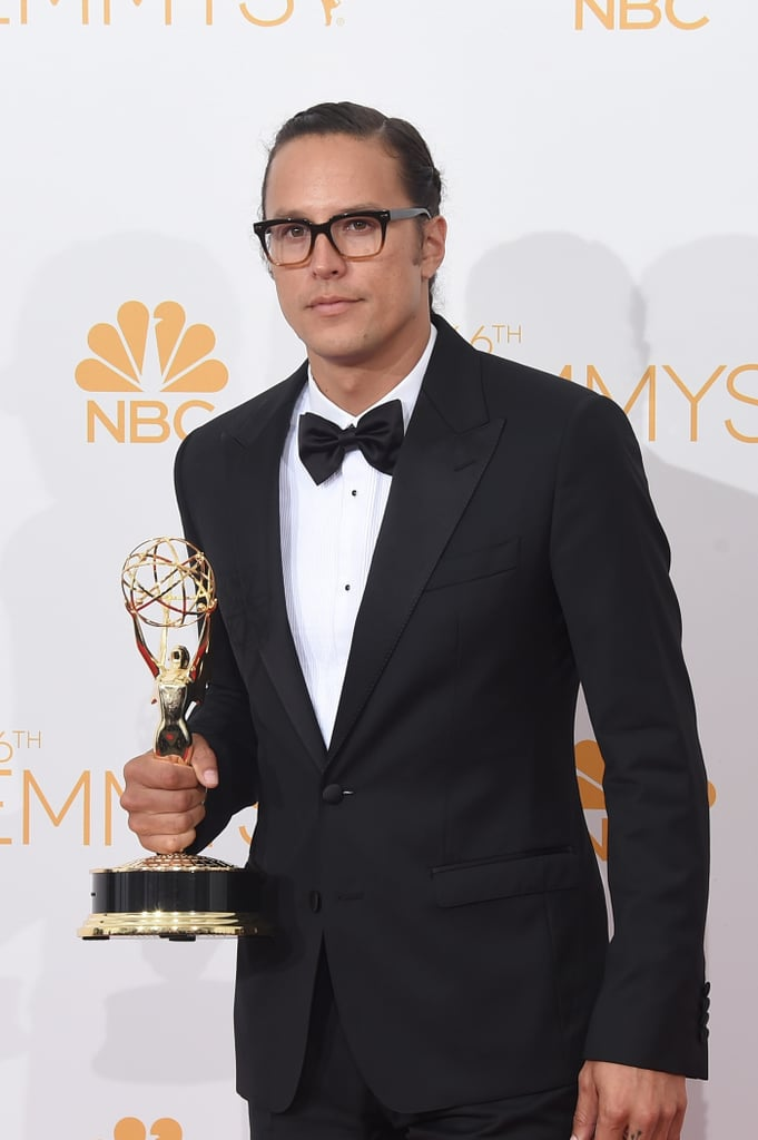 Cary in the press room with his Emmy.
