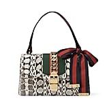 Gucci Sylvie Small Snakeskin Shoulder Bag, Roccia ($3,290)