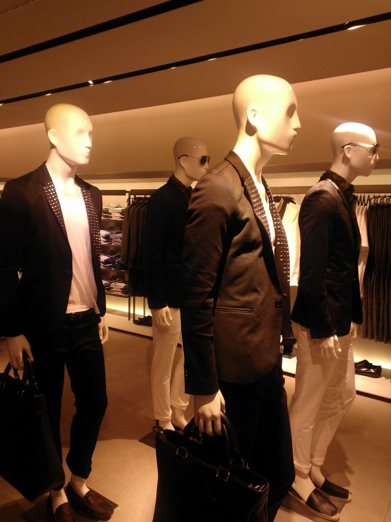 Slick, tailored separates in the menswear department.