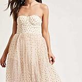 Forever 21 Strapless Polka Dot Maxi Dress